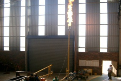 Commissioning of the portable flare towers