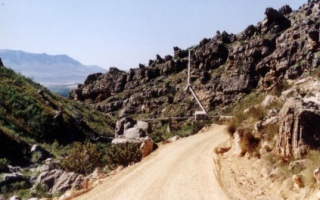 Pipeline located in the mountains of the Central Cape Province