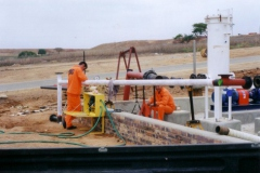 RRC personnel conducting pressure test